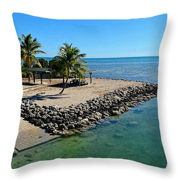 Sugarloaf Key Park Throw Pillow by Pamela Blizzard