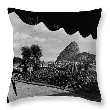 Sugarloaf Mountain Seen From The Patio At Carlos Throw Pillow