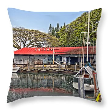 Suisan Fish Market Throw Pillow