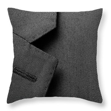 Throw Pillow featuring the digital art Suit Texture by Mike Taylor