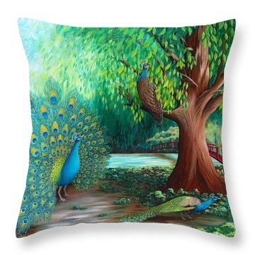 Suitors Throw Pillow