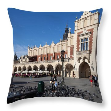 Sukiennice, The Renaisssance Cloth Throw Pillow by Panoramic Images