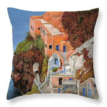 sul mare Greco Throw Pillow by Guido Borelli