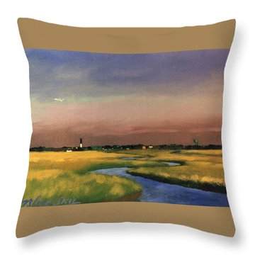 Sullivan's Island Throw Pillow by Blue Sky