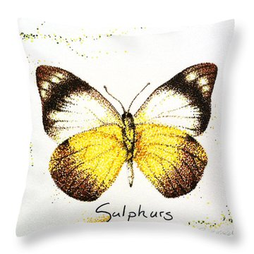 Sulphurs - Butterfly Throw Pillow