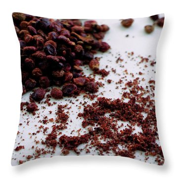 Sumac Spices Throw Pillow