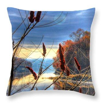 Sumacs Along The Kennebec Throw Pillow