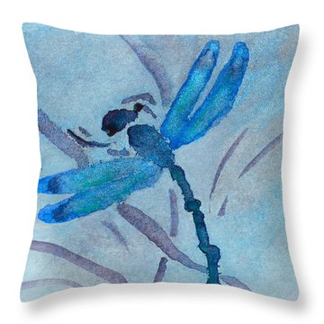 Sumi Dragonfly Throw Pillow
