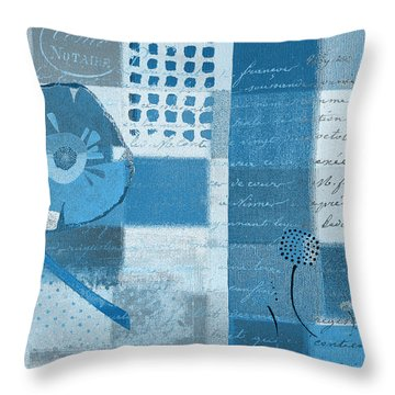Summer 2014 - J088097112-blueall Throw Pillow by Variance Collections
