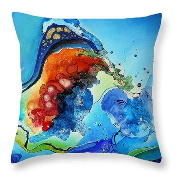 Summer - A Hot Day At The Beach Throw Pillow by Wolfgang Schweizer