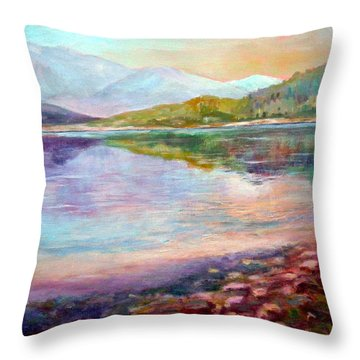 Throw Pillow featuring the painting Summer Afternoon by Sher Nasser