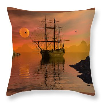 Summer Anchorage Throw Pillow