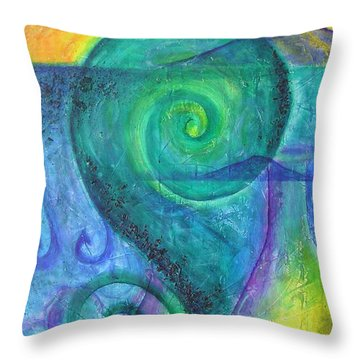 Summer Aotearoa Throw Pillow