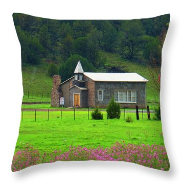Summer At Apache Creek Throw Pillow by Feva  Fotos