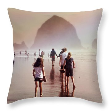 Summer At The Seashore  Throw Pillow