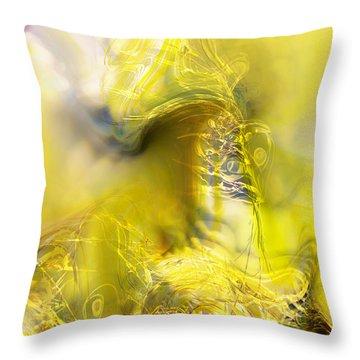 Throw Pillow featuring the digital art Summer Barley by Richard Thomas