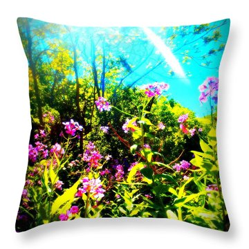 Summer Beauty Throw Pillow
