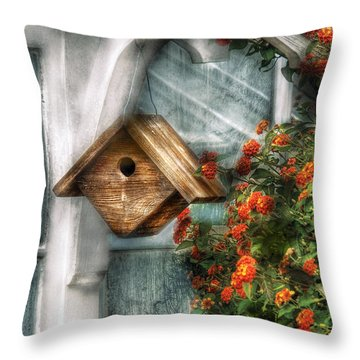 Summer - Birdhouse - The Birdhouse Throw Pillow by Mike Savad