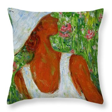 Summer Blush Throw Pillow by Xueling Zou