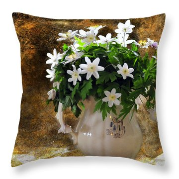 Spring Bouquet Throw Pillow by Randi Grace Nilsberg