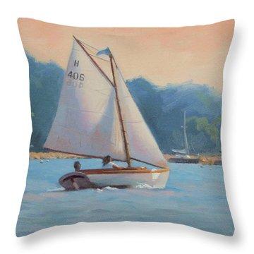 Summer Breeze Throw Pillow by Dianne Panarelli Miller