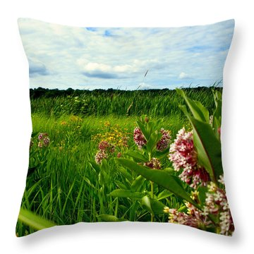 Throw Pillow featuring the photograph Summer Breeze by Zafer Gurel
