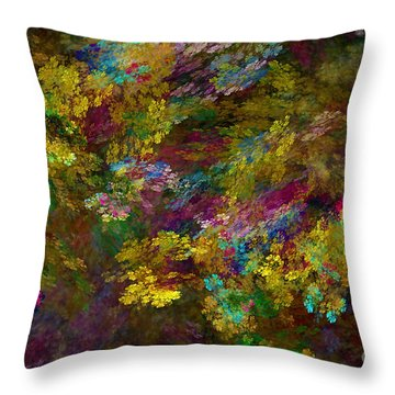 Throw Pillow featuring the digital art Summer Burst by Olga Hamilton