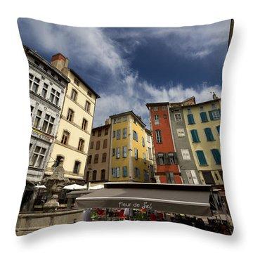 Summer Cafe Throw Pillow by Debra and Dave Vanderlaan