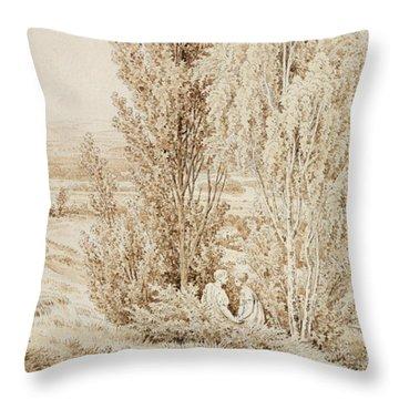 Summer Throw Pillow by Caspar David Friedrich