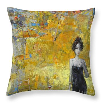 Summer Cocktail Hour Throw Pillow
