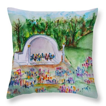 Summer Concert In The Park Throw Pillow