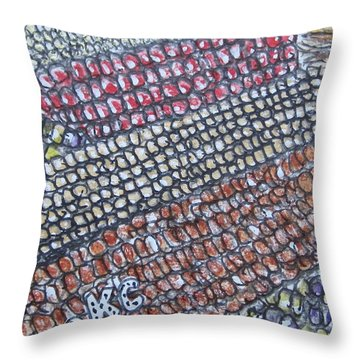 Summer Corn Throw Pillow by Kathy Marrs Chandler