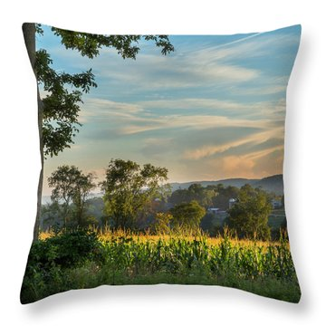 Summer Corn Square Throw Pillow
