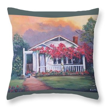 Summer Cottage Throw Pillow by Catherine Swerediuk