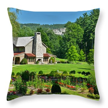Summer Cottage Throw Pillow by Frozen in Time Fine Art Photography