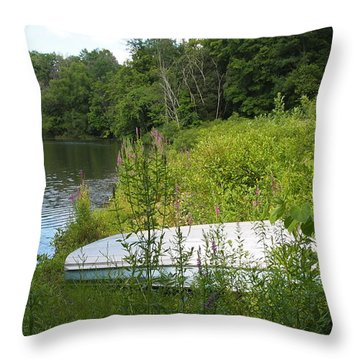Throw Pillow featuring the photograph Summer Day  by Deborah Fay