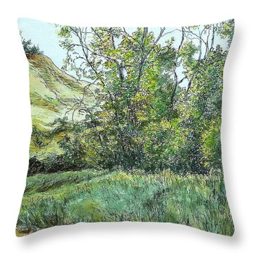 Summer Day Throw Pillow by Elizabeth Crabtree
