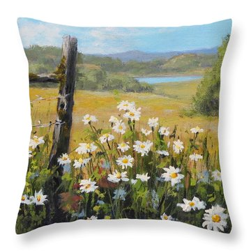 Summer Daydream Throw Pillow by Karen Ilari