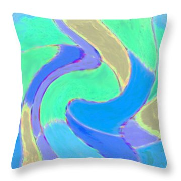 Hot Summer Nights Throw Pillow