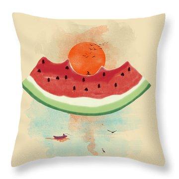 Water-melon Throw Pillows