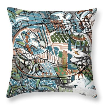 Throw Pillow featuring the digital art Summer Divertimento by Clyde Semler