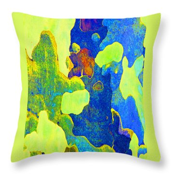 Summer Eucalypt Abstract 14 Throw Pillow