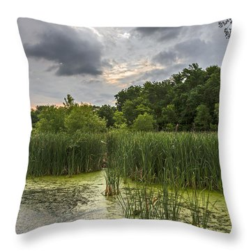 Summer Evening Clouds Throw Pillow