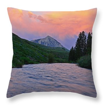 Summer Evening Reflections Throw Pillow