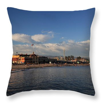 Summer Evenings In Santa Cruz Throw Pillow