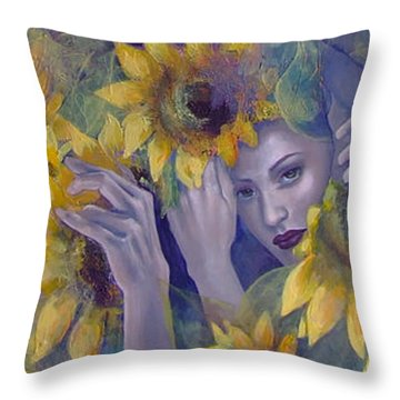 Summer Fantasy Throw Pillow by Dorina  Costras