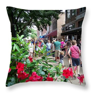 Summer Farmers Market Knoxville Throw Pillow by Jake Hartz