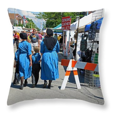 Summer Festival In Berne Indiana II Throw Pillow by Suzanne Gaff