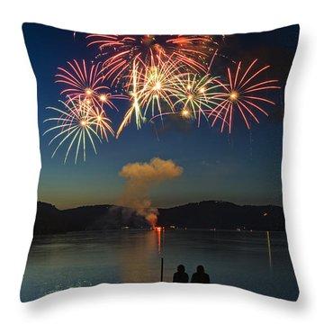 Summer Fireworks Throw Pillow