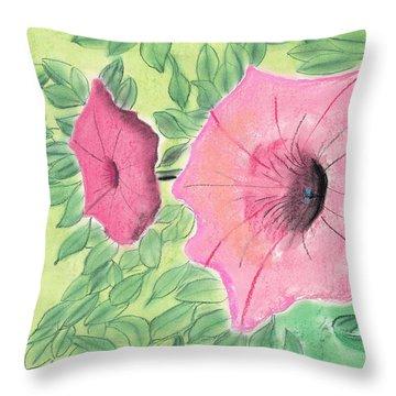 Summer Flowers Throw Pillow by David Jackson